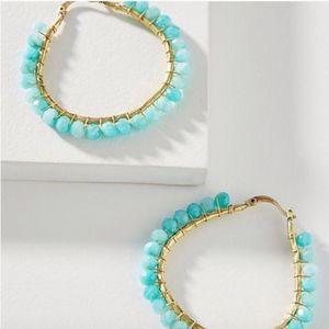 Anthropologie earrings Cleo Beaded Hoop Earrings